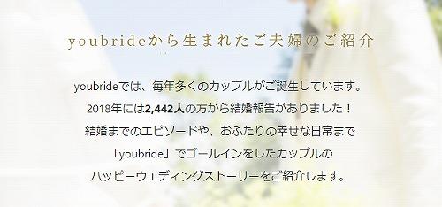 ユーブライドの成婚報告