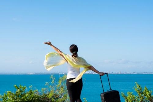 旅行好きの女性